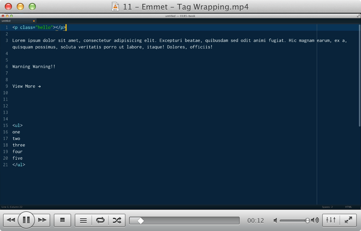 11 - Emmet - Tag Wrapping